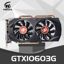 Veineda ビデオカード GTX1060 3 ギガバイト 192Bit gpu GDDR5 グラフィックスカード nvidia の vga カードの geforce gtx 1050Ti hdmi gtx 750 ti 950 1060