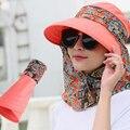 Модная женская летняя обувь на открытом воздухе для верховой езды от солнца, головной убор, защита от УФ пляж складной солнцезащитный козыр...