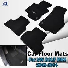 Para VW Golf Mk6 2009 - 2014 alfombra de Nylon negro alfombra de frente del Interior 2010, 2011, 2012, 2013