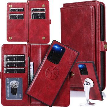 Flip Leather Case for Samsung S20 Ultra Removal Magnetic Stand Wallet Phone Cover for Samsung Galaxy Note 20 S20 Plus A51 A71