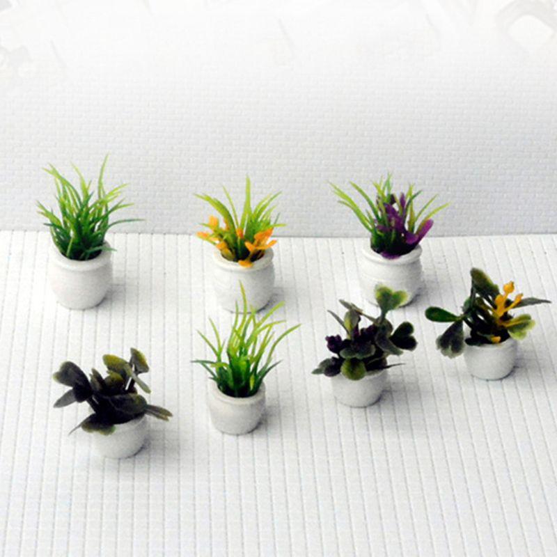 Dollhouse Miniature Bathroom Toilet Model DIY Sand Table Landscape Scene Toys HI