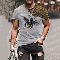 Divertente Ms. Bee T-Shirt da uomo estiva con stampa 3D personalità Street girocollo manica corta Unisex Hip Hop top Tee T-Shirt da uomo 6XL
