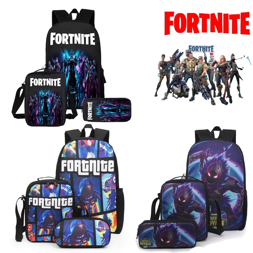 Men School Bags Fortnite Game Backpack Orthopedic Fortress Night Student Schoolbag Boys Teens Primary School Backpack Toys Gift