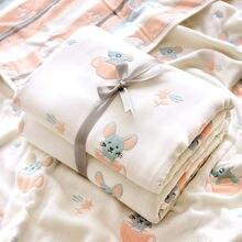 Детские марлевые банные полотенца для новорожденных из чистого