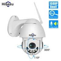 Hiseeu 1080 p sem fio ptz speed dome câmera ip wi fi ao ar livre de áudio em dois sentidos cctv segurança vídeo câmera vigilância rede p2p