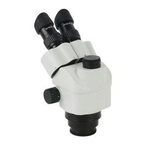 Image 2 - 3.5X 90X Simul הפוקוס סטריאו Trinocular זום מיקרוסקופ ראש WF10X/20mm עינית 0.7X 45X מטרה עדשת זום רציף