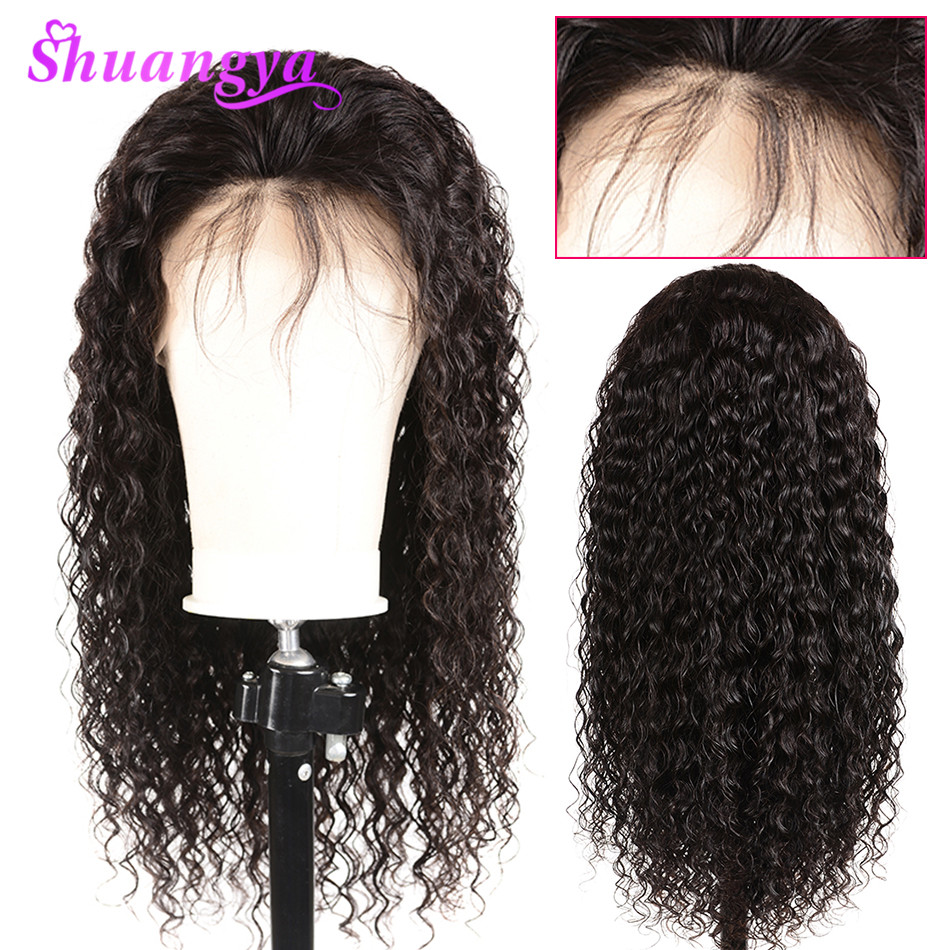 Shuangya Hair Brazilian Water Wave 360 Lace Frontal Wigs With Baby Hair Lace Front Human Hair