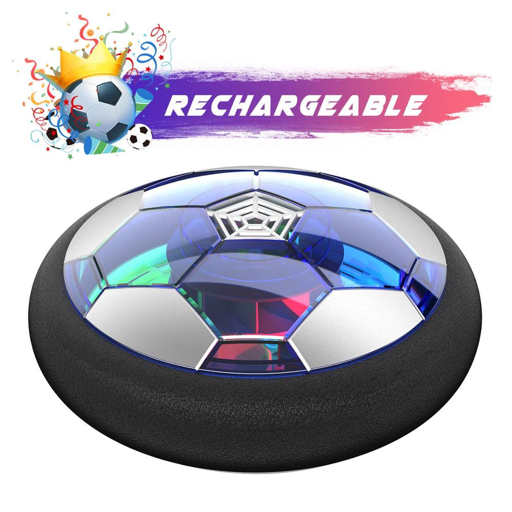 Rechargeable Air Soccer LED Football Hover Soccer Ball Floating Indoor Soccer Training Equipment Sports Toys For Boys Girls