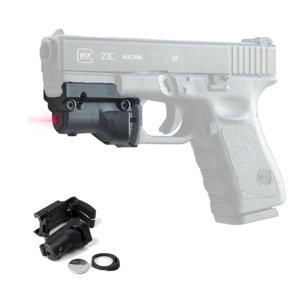 Тактический лазерный прицел Ohhunt 5mw, Красный точечный прицел для пистолетной винтовки Glock 19 23 22 17 21 37 31 20 34 35 37 38, страйкбольной охоты