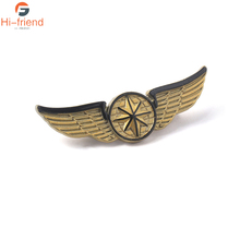 2019 Movie Avengers Endgame Brooches Captain Logo Gold Star Wings Pins Hats Cowboy Clothes Badges Jewelry