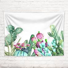 Cartoon Plant Cactus Hanging Wall Tapestries Mandala Bohemian Tapestry Landscape Wall Cloth Art Carpet Blanket Yoga Mat Decor s l dough roller knife pie pizza cookie cutter pastry plastic baking tools bakeware embossing dough roller lattice cutter craft