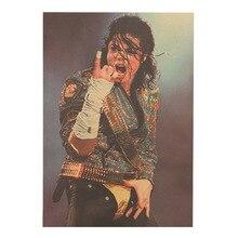 PipiFren рисунок-Наклейка на стену известная звезда Майкл Джексон один кусок винтажные наклейки домашний декор живопись классическая ностальгия обои