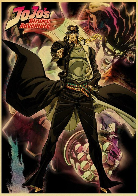 Japanese Anime JoJo's Bizarre Adventure Poster Wall Art Canvas Painting Watercolor Prints Home Decor Pictures Living Room Decor 3