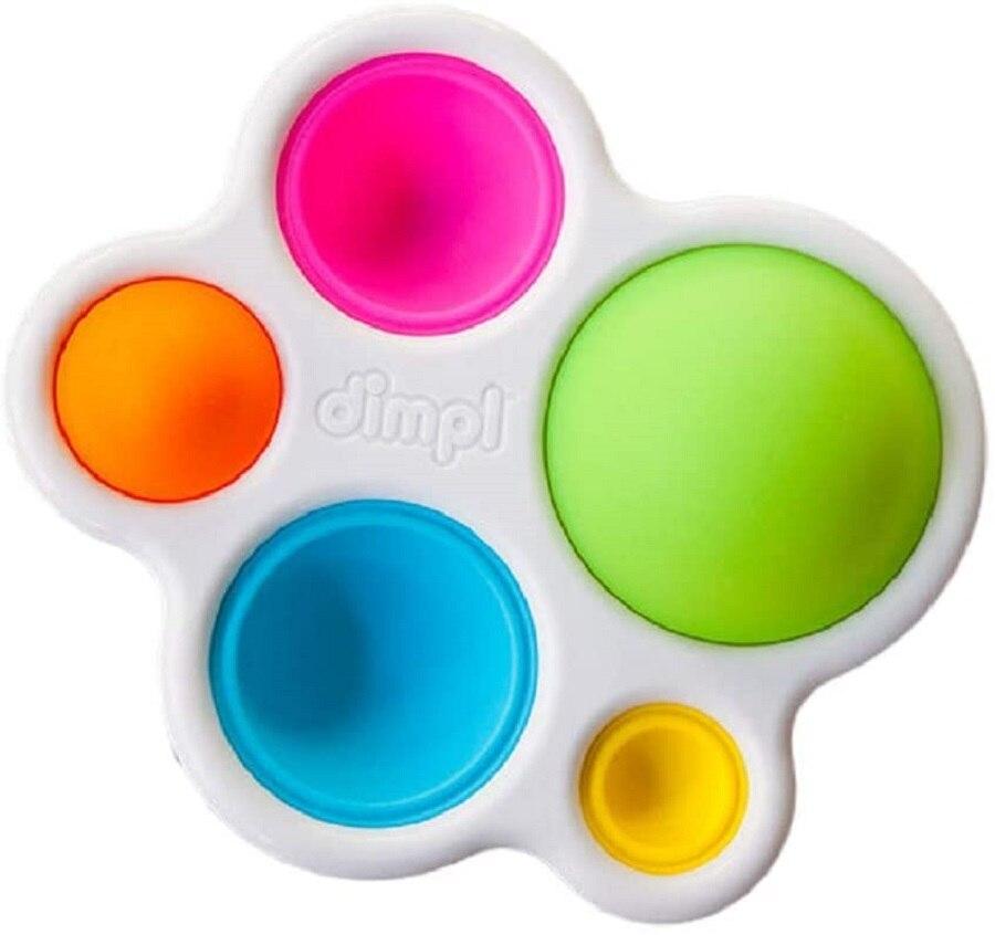 Толстые игрушки для мозга Dimpl, детские игрушки и подарки, подходит для детей от 1 до 2 лет, многоцветные