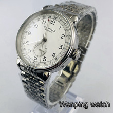 Case Mechanical-Watch Mark-Date Parnis 42mm Automatic Business Stainless-Steel Window