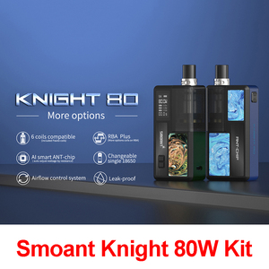 Image 1 - הכי חדש Smoant אביר 80W ערכת Vape Pod דואר סיגריה ערכת יחיד 18650 בת רשת סליל 0.3ohm 0.4ohm עם 0.96 אינץ OLED מסך תיבת Mod קיט