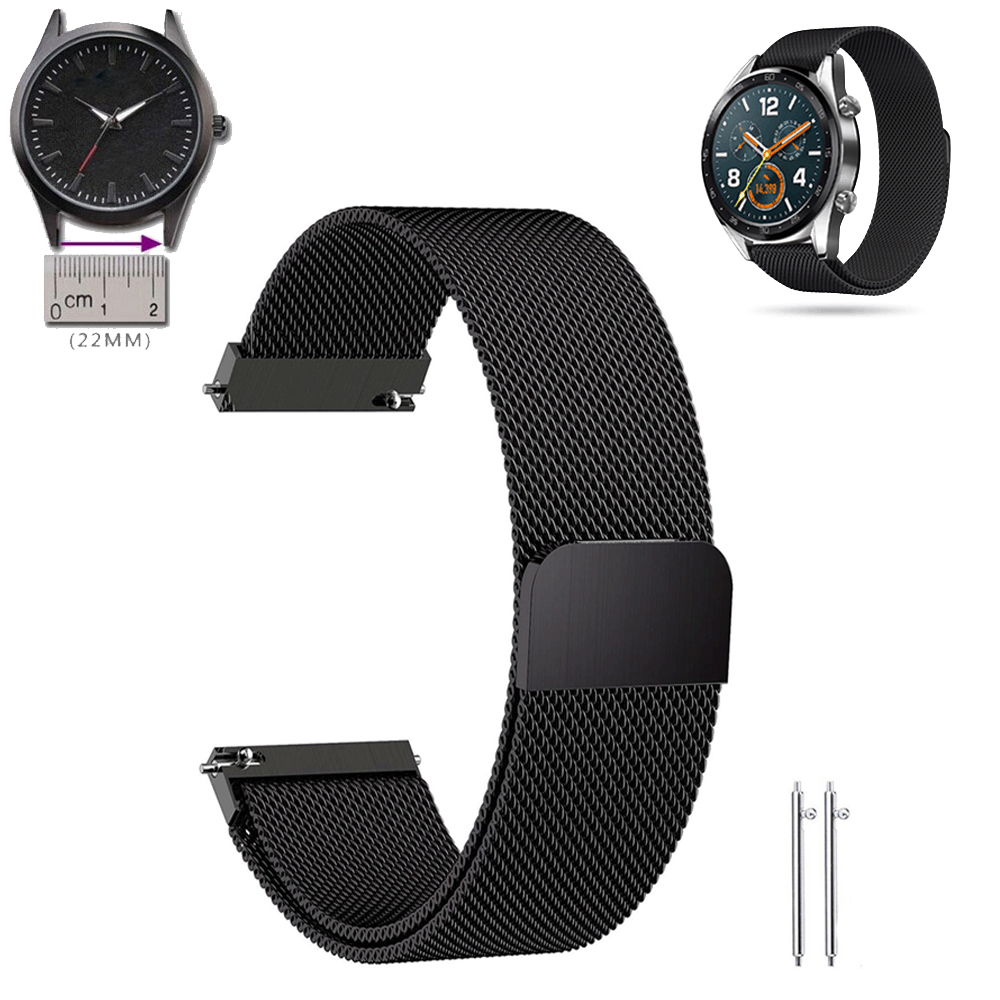 22mm watch band strap for huawei watch gt milanese loop <font><b>20mm</b></font> for samsung galaxy watch 46mm gear s3 frontier galaxy watch active2 image