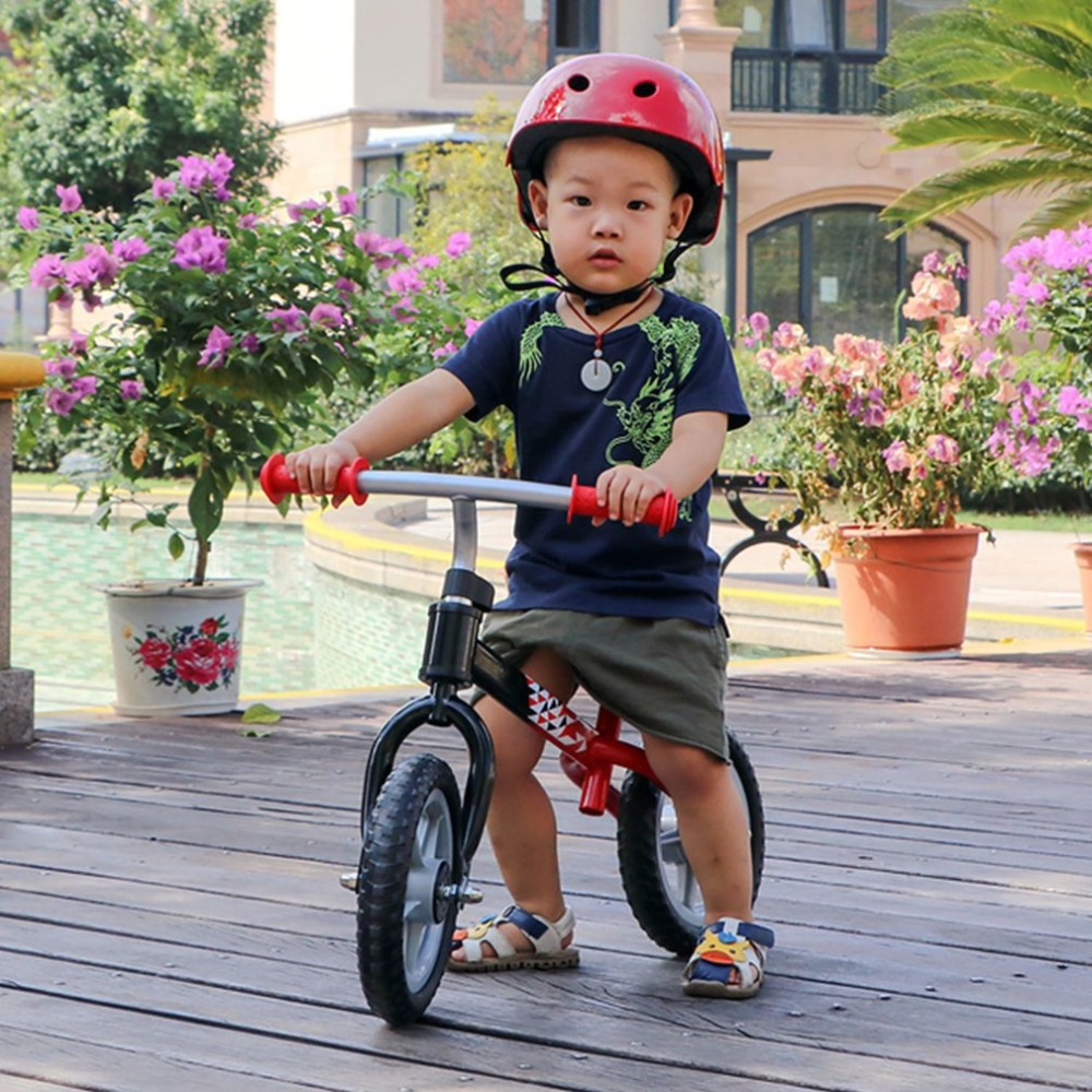 H3084d4a8fe454d099375e099f0baa613K 10 inch Children Balance Bike Kids Riding Bicycle Indoor Outdoor Balance Bicycle No Foot Pedal Baby Walker Riding Toy