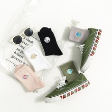 Women Autumn and winter cartoon embroidery planet cotton socks college wind creative female