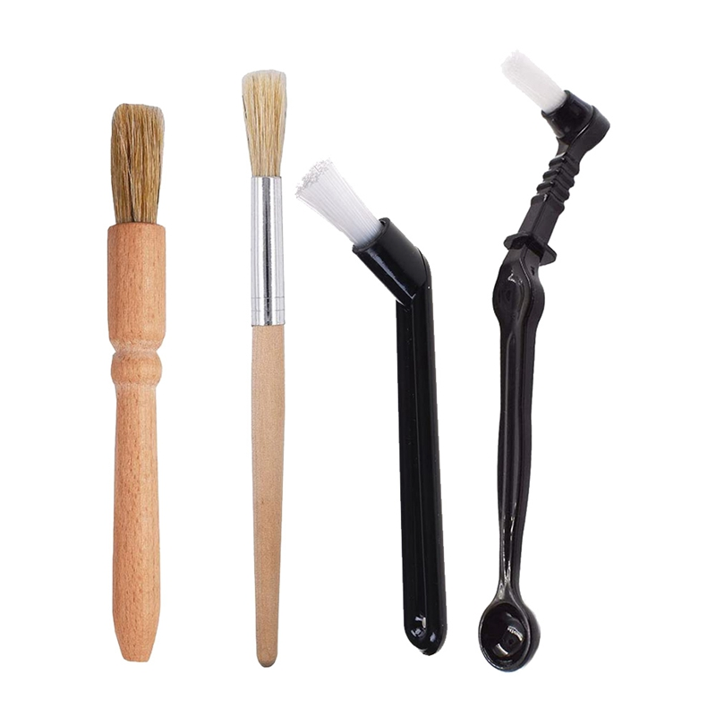 Coffee Machine Cleaning Brush Set,4 Pieces Wooden and Nylon Espresso Cleaning Brush,for Coffee Machine Group Head