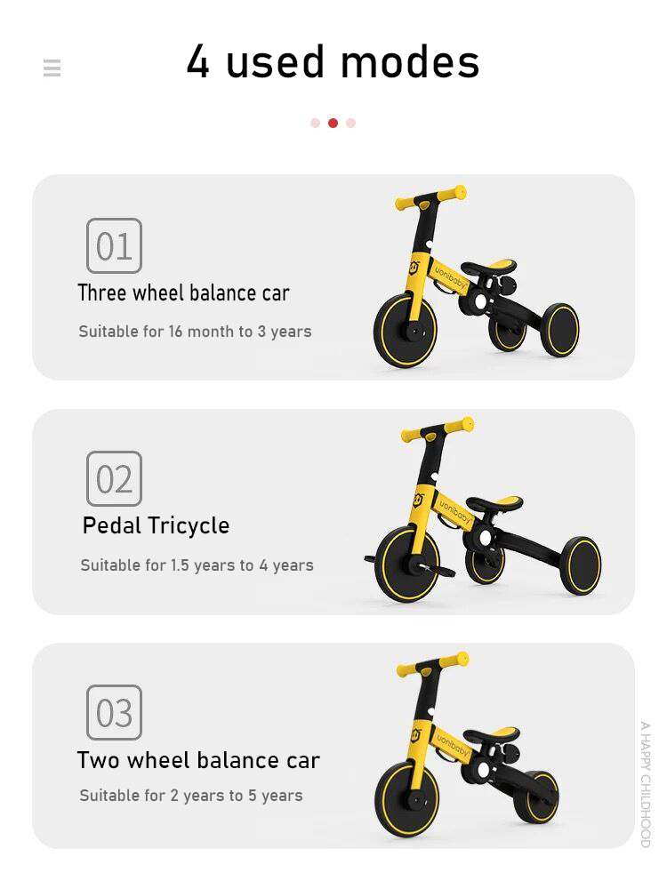 Children's balance car 1-6 years old bicycle three-in-one sliding car baby sliding tricycle