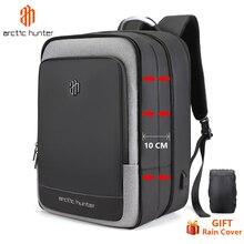 40L duża pojemność mężczyzna rozbudowy plecaki USB ładowania mężczyzna 17 cal torby na laptop wodoodporny biznes podróży Mochila mężczyzna