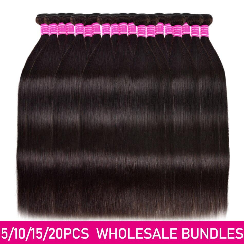 Прямые человеческие волосы пряди цена оптовой продажи 3/5/10/20 пряди сделка бразильский человеческих волос непрессованный подвергавшиеся хи...
