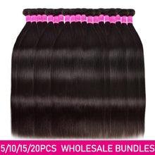 Feixes de cabelo humano em linha reta preço de atacado 3/5/10/20 pacotes negócio brasileiro cabelo humano não pressionado pacotes de cabelo virgem humano
