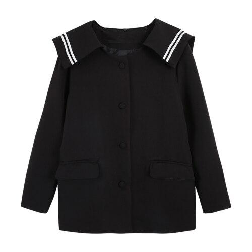 2019 Korean Blazer Elegant Women Vintage Blazers Preppy Style Loose Splice Pockets Button Women Coats Female White Black Blazers 4