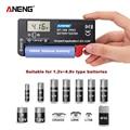 ANENG AN-168 POR цифровой тестер батареи 18650 аккумулятора электронная нагрузка индикатор заряда чекер проверка батареек емкости батареи power battery ...