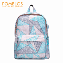 POMELOS Women Backpack High Quality Waterproof For School Roomy Fashion Pattern Bag Laptop Travel Woman