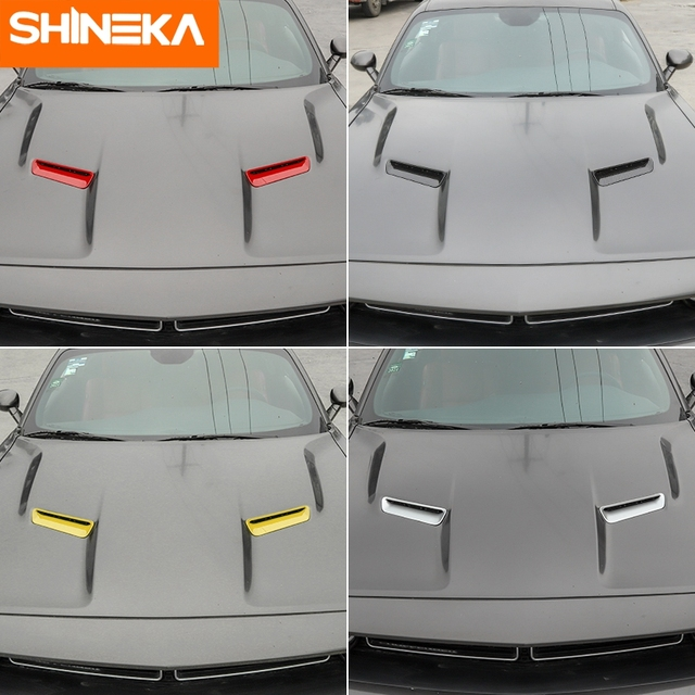 Car Styling Sticker for Dodge Challenger 2015+ Accessories Auto Engine Cover Air Flow Intake Hood Vent Cover for Challenger 2019 4