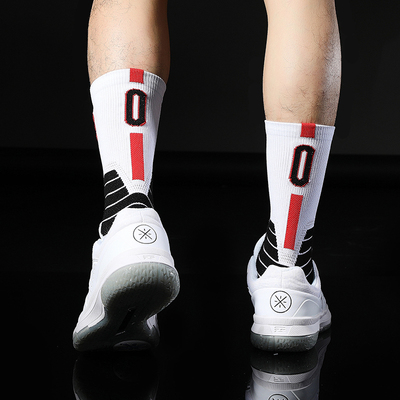 No0 Damian Zero Lillard Basketball Elite Player Thick Sport Crew Towel Training Socks Digital Number Portland Team Point Guard