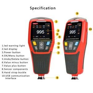 UNI-T UT343D толщиномер для покрытия автомобильной краски тестер толщины пленки измерительный FE/NFE инструмент для краски USB хранение данных