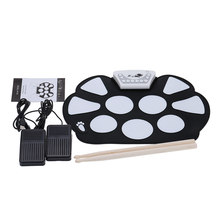Neue Berufs Roll up Drum Pad Kit Silizium Faltbare mit Stick Tragbare Trommel Elektronische Drum USB Trommel(China)
