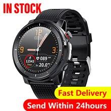 2020 nova microfones l15 relógio inteligente homem ip68 à prova dip68 água monitor de sono ecg ppg pressão arterial freqüência cardíaca esporte fitness smartwatch