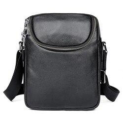 Мужская сумка-мессенджер через плечо, из натуральной кожи