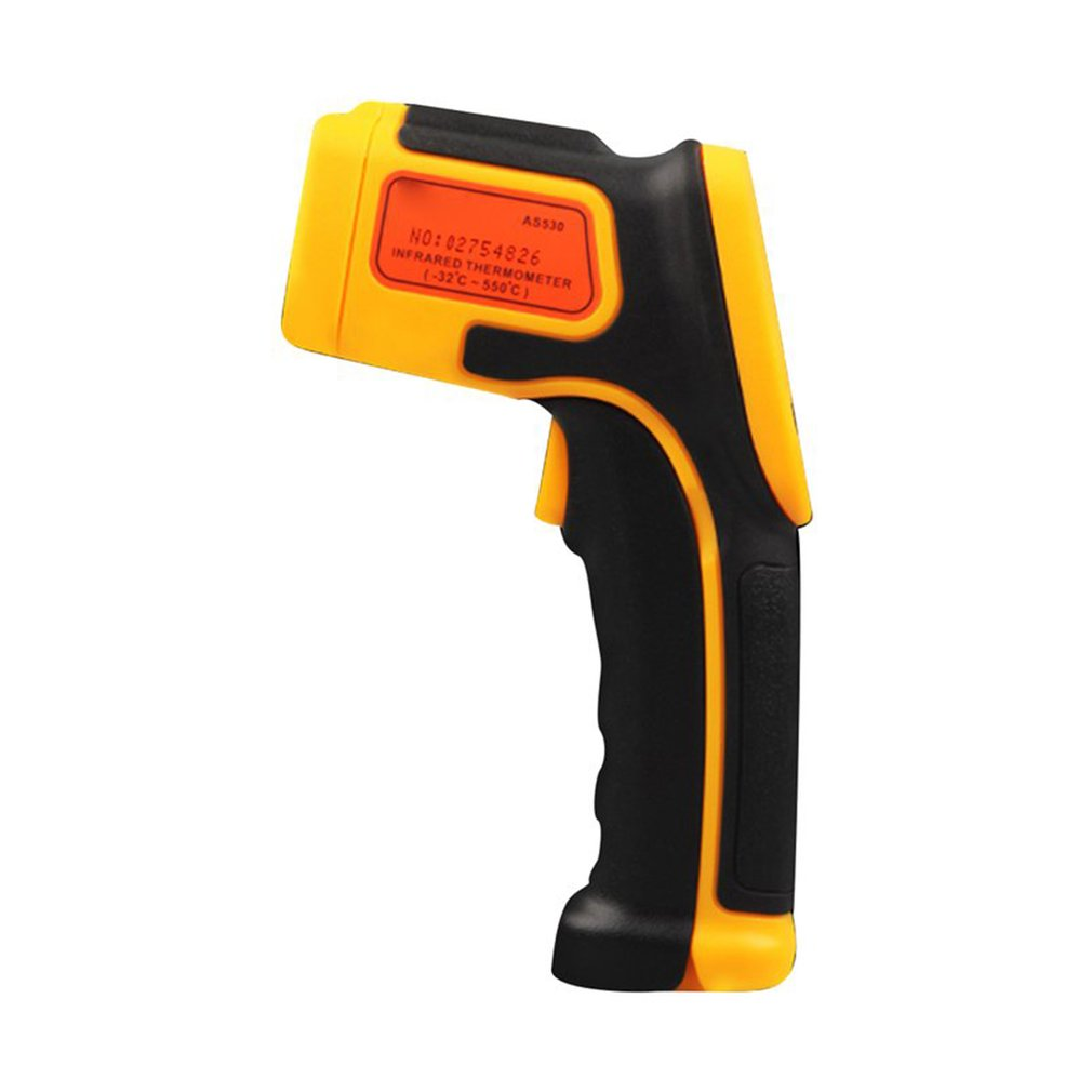 1 set Infrared thermometer Low power consumption LCD backlight display data hold function laser sign display