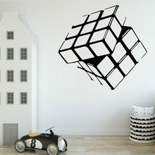 Magic Cube Pattern Creative Design Wall Sticker For Living Room Kids Bedroom Vinyl Home Decor Wall Decals Removable Murals 3808 цена