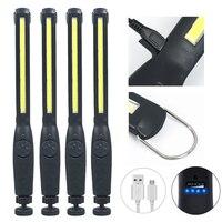 4X 2X COB LED Arbeit Licht Tasche Taschenlampe 1200mAh 2200mAh Wiederaufladbare Notfall Taschenlampe 360 ° Inspektion Licht Camping lampe