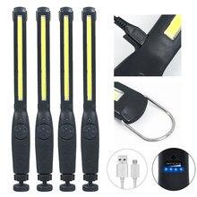 4X 2X COB LED Travail Lumière lampe de Poche 1200mAh 2200mAh Rechargeable Torche D'urgence 360 ° L'inspection Lumière Lampe de Camping