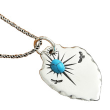 925 Sterling Silver Feather Shield Inlaid turquoise Natural Crystal Men Women Necklace Pendant Jewelry 925 sterling silver vintage feather cross men women necklace pendant jewelery gift christmas