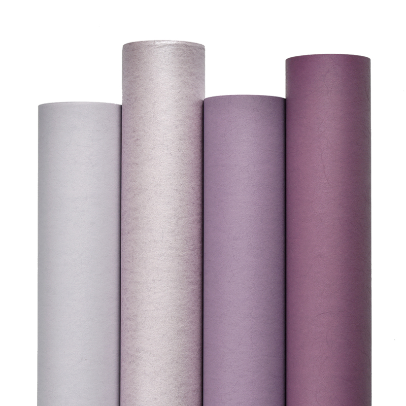 Light Dark Purple Wall Papers For Girls Bedroom Walls  Plain Solid Color Non-woven Contact Paper For Living Room Mural