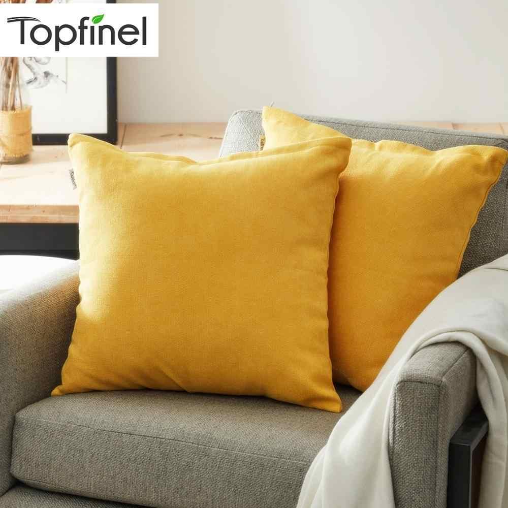 Topfinel Lembut Chenille Bantal Sampul Bantal Cover Mewah Persegi Dekoratif Sarung Bantal untuk Tidur Sofa Mobil Rumah Bantal