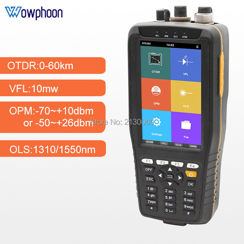 Latest TM290 Smart OTDR 1310 1550nm 22/20dB With VFL/OPM/OLS Touch Screen OTDR Optical Time Domain Reflectometer