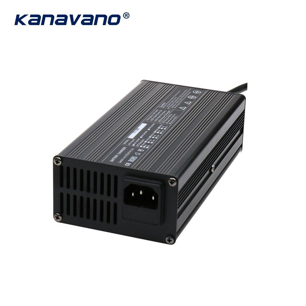 Kanavano 12V10A 240W 14.6v lifepo4 battery charger smart battery charger  Aluminum case  for LiFePo4 lithium battery Lead acid