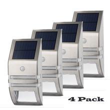 4 комплекта светодиодный светильник на солнечной батарее pir