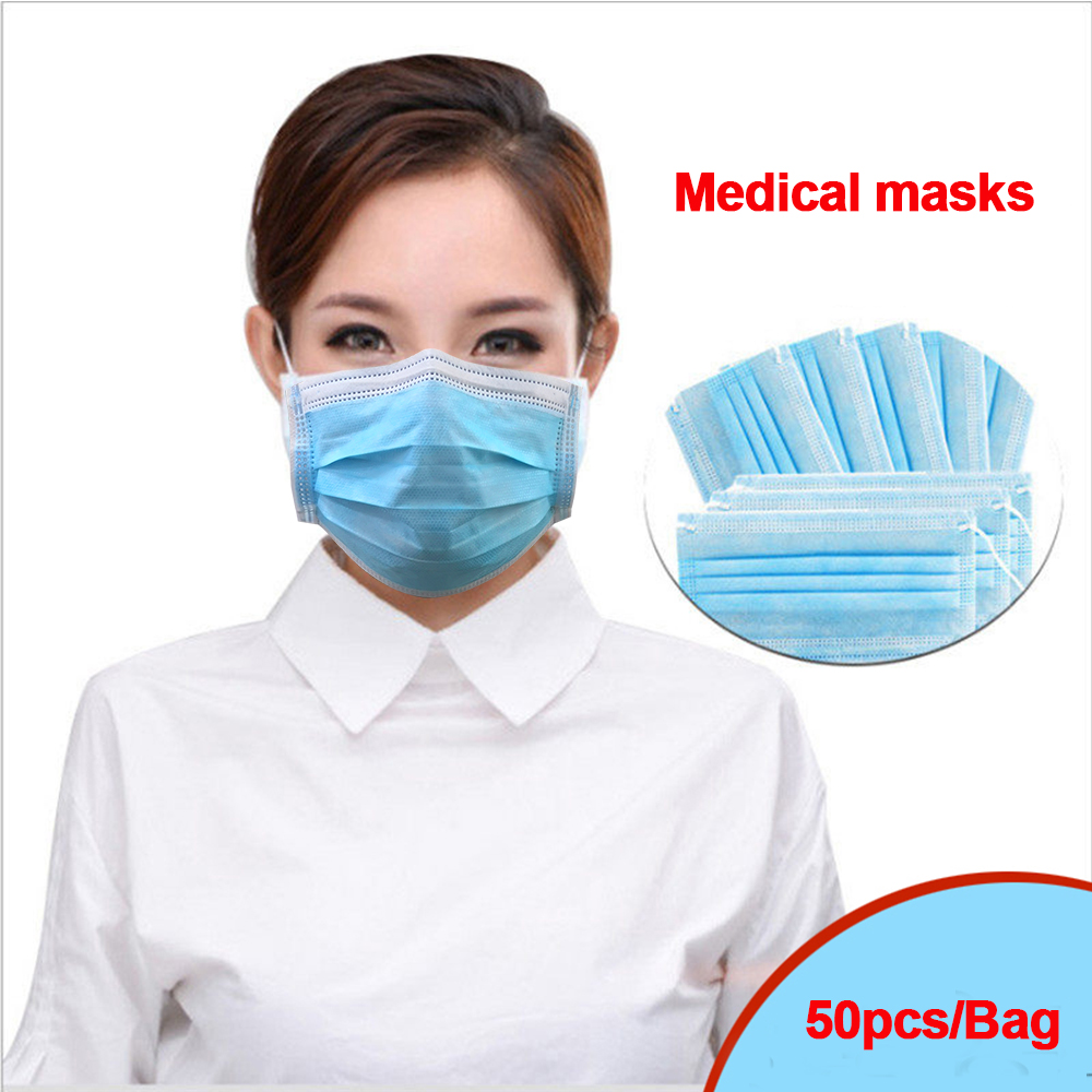 50   100pcs PM2.5 Surgical anti virus Profession Medical Mask 