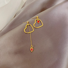 South Korea Asymmetric Earrings Female Temperament Love 2020 New Jewelry for Women