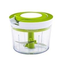 ABSS-пищевой измельчитель спиральный слайсер Мощный ручной блендер кухонный инструмент зеленый+ белый пластик+ металл